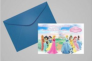 Convite 10x15 Princesas Disney 011