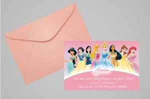 Convite 10x15 Princesas Disney 012