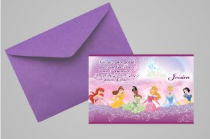 Convite 10x15 Princesas Disney 013