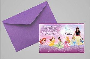 Convite 10x15 Princesas Disney 013 com foto