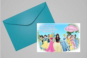 Convite 10x15 Princesas Disney 014 com foto