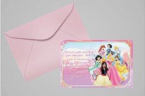 Convite 10x15 Princesas Disney 017 com foto