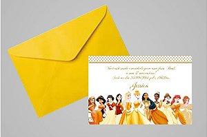 Convite 10x15 Princesas Disney 019