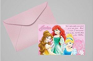 Convite 10x15 Princesas Disney 020