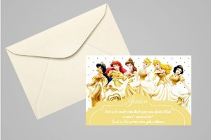 Convite 10x15 Princesas Disney 021