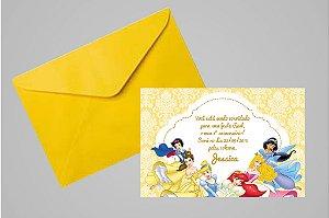 Convite 10x15 Princesas Disney 023