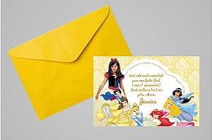 Convite 10x15 Princesas Disney 023 com foto