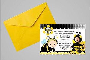 Convite 10x15  Abelhas 001 com foto