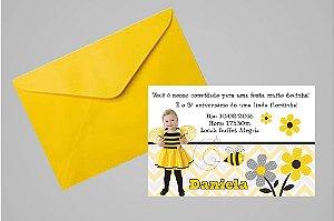 Convite 10x15  Abelhas 007 com foto