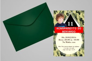 Convite 10x15 Acampamento 001 com foto