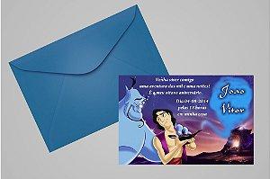 Convite 10x15 Aladdin 002