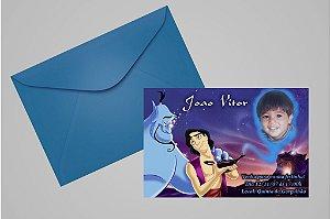 Convite 10x15 Aladdin 002 com foto