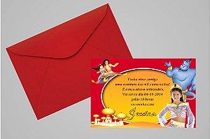 Convite 10x15 Aladdin 003 com foto