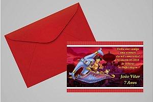 Convite 10x15 Aladdin 004