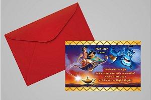 Convite 10x15 Aladdin 005