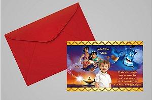 Convite 10x15 Aladdin 005 com foto