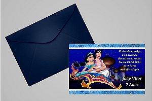 Convite 10x15 Aladdin 006