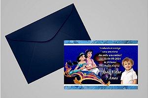 Convite 10x15 Aladdin 006 com foto