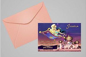 Convite 10x15 Aladdin 008