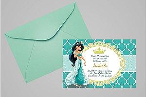 Convite 10x15 Jasmine Aladdin 009
