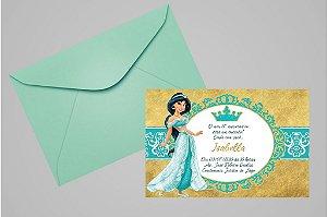 Convite 10x15 Jasmine Aladdin 010