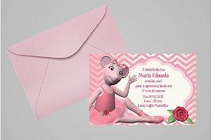 Convite 10x15 Angelina Bailarina 002