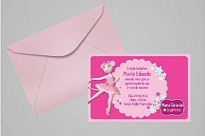 Convite 10x15 Angelina Bailarina 005