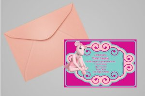 Convite 10x15 Angelina Bailarina 008