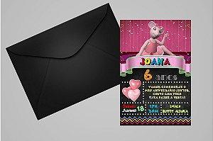 Convite 10x15 Angelina Bailarina 009