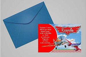 Convite 10x15 Aviões da Disney 001