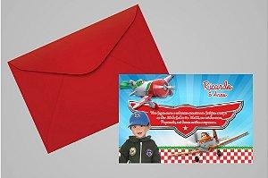 Convite 10x15 Aviões da Disney 002 com foto