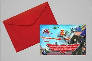 Convite 10x15 Aviões da Disney 004 com foto