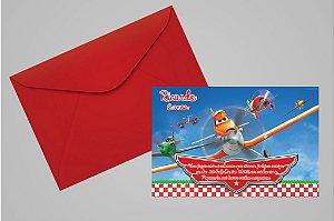 Convite 10x15 Aviões da Disney 005