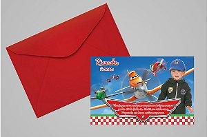 Convite 10x15 Aviões da Disney 005 com foto