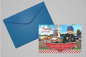Convite 10x15 Aviões da Disney 006 com foto