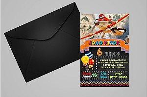 Convite 10x15 Aviões da Disney 007