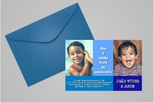 Convite ou foto lembrança 10x15 Aniversário sem tema 003