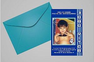 Convite ou foto lembrança 10x15 Aniversário sem tema 009
