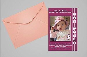 Convite ou foto lembrança 10x15 Aniversário sem tema 010