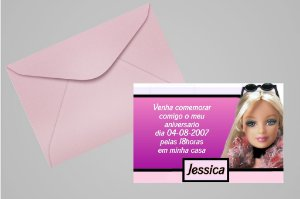 Convite 10x15 Barbie 007