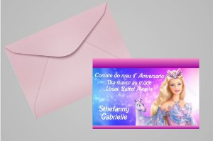 Convite 10x15 Barbie 008