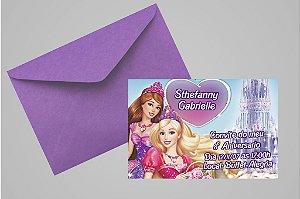 Convite 10x15 Barbie 010