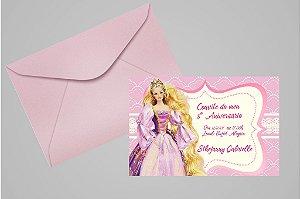 Convite 10x15 Barbie 011