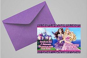 Convite 10x15 Barbie 014