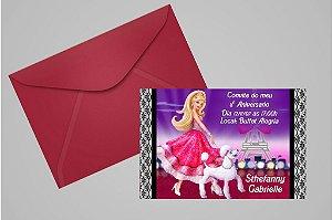 Convite 10x15 Barbie 021