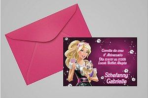 Convite 10x15 Barbie 023