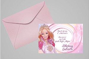 Convite 10x15 Barbie 025