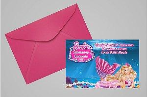 Convite 10x15 Barbie 033