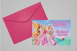 Convite 10x15 Barbie 036