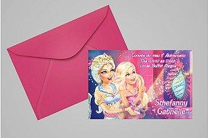 Convite 10x15 Barbie 037